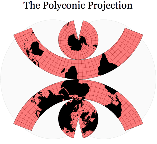 Polyconic projection.