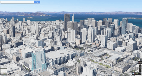 Google's Earthview integrates 3D imagery into Google Maps.