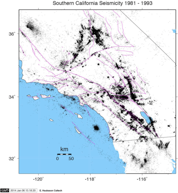 Earthquakes in Southern California 1981-1993