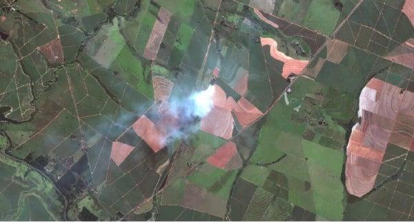 Image 1: Fields burn near Presidente Prudente, São Paulo, Brazil. 50-cm color WorldView-2 image courtesy of DigitalGlobe.