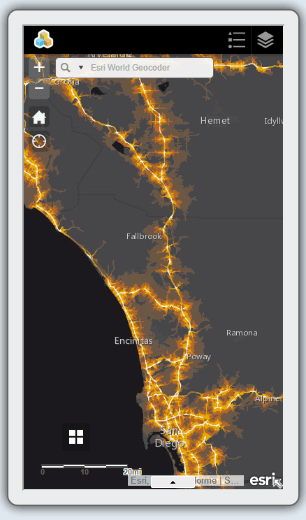 Screenshot of ArcGIS on the iPhone 6.