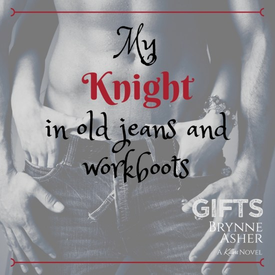 My knight in old jeans and work boots