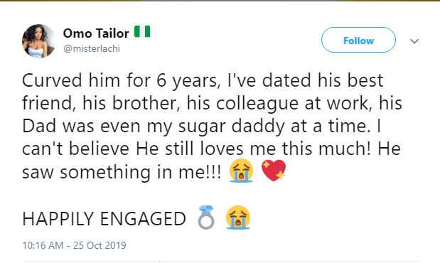 Nigerian lady reveals the travails she put her fiancé through