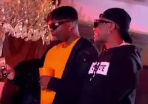 Wizkid, Olamide and Phyno Spotted At Fireboy DML Album Listening Party