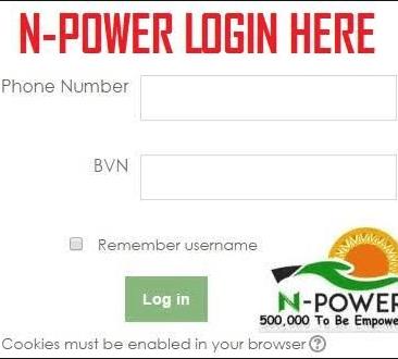 NPower Portal login 2021 March | www.npower.gov.ng