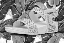 Safi Sandal in White and Silver