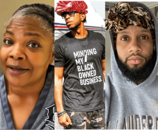 Black Men Wear Bonnets To Stand In Solidarity With Black Women After Mo'nique Criticized Them For Wearing Bonnets And Slippers In Public (Photos)