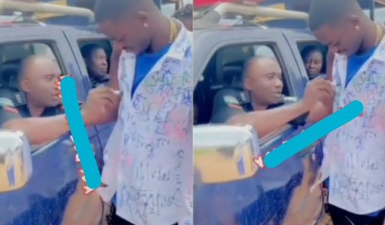 Police Officers Celebrate With A Crownpoly Graduating Student, As They Sign On His Shirt (Video)