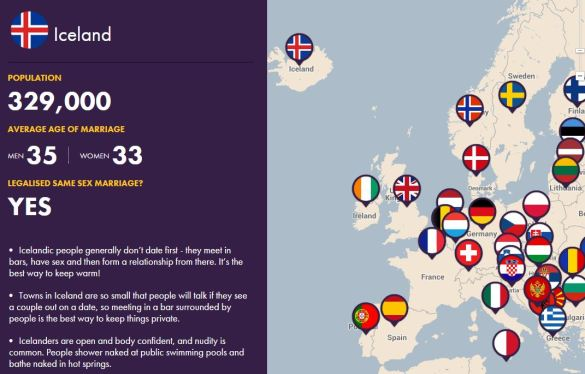 Interactive Dating Map - A Guide to Dating Across Europe