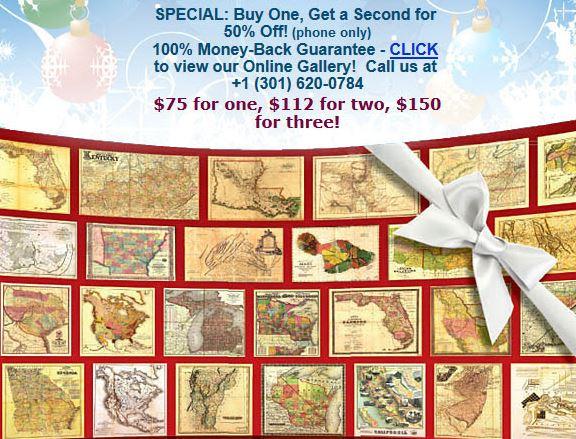 American Surveyor Maps for Christmas