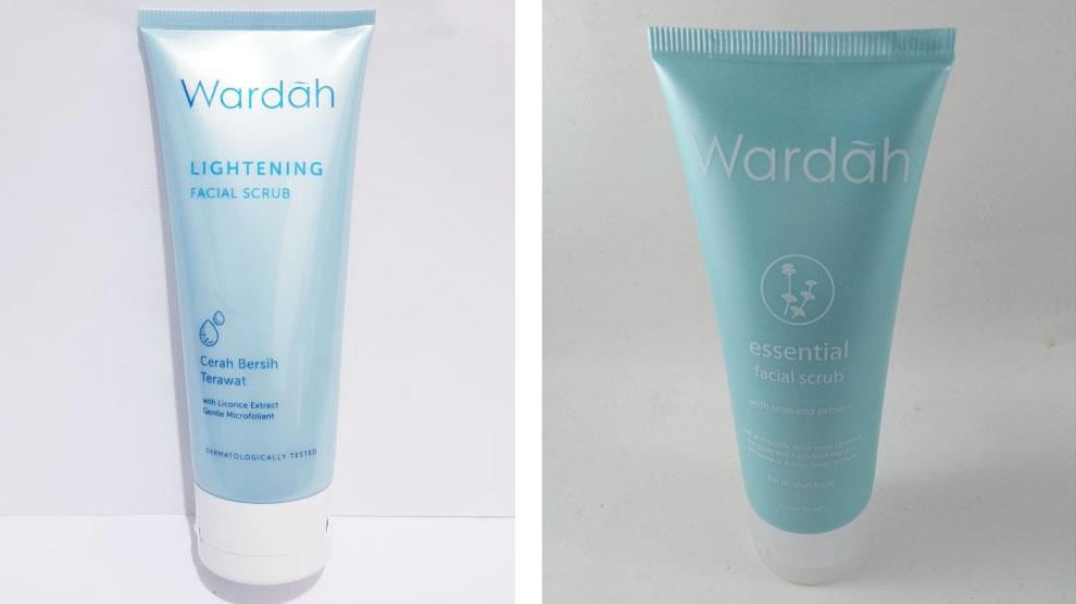 Wardah Lightening Facial Scrub & Essential Facial Scrub