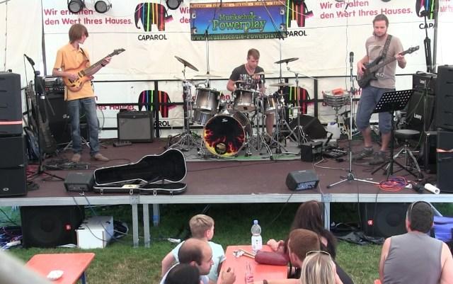 Gitarrenunterricht Ravensburg Markdorf Schüler Live Bühne Hafenfest Uhldingen 2016