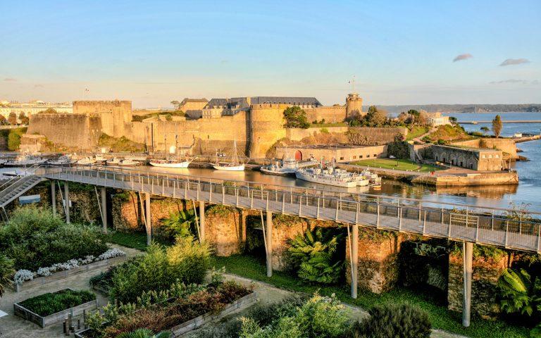 le chateau et le jardin des explorateurs à Brest