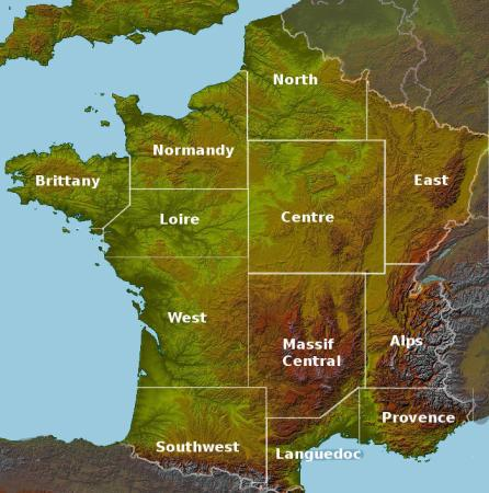 Gites and B B locator maps for France Gites in France
