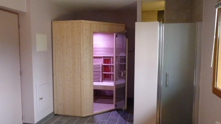 Le sauna, pour un moment de détente lors de votre séjour
