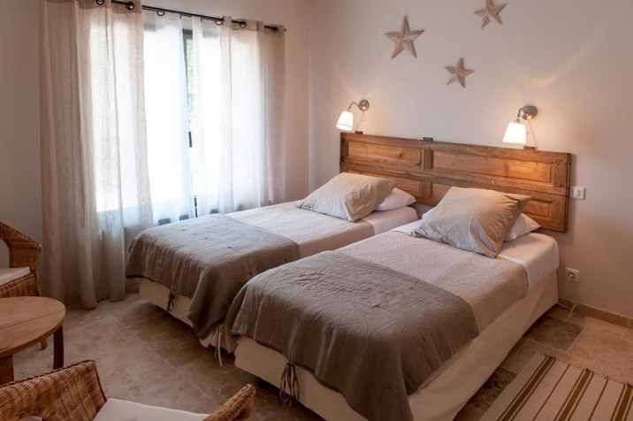 Créativité et simplicité sont le reflet de la décoration des chambres