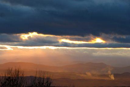 Couché de soleil en Auvergne