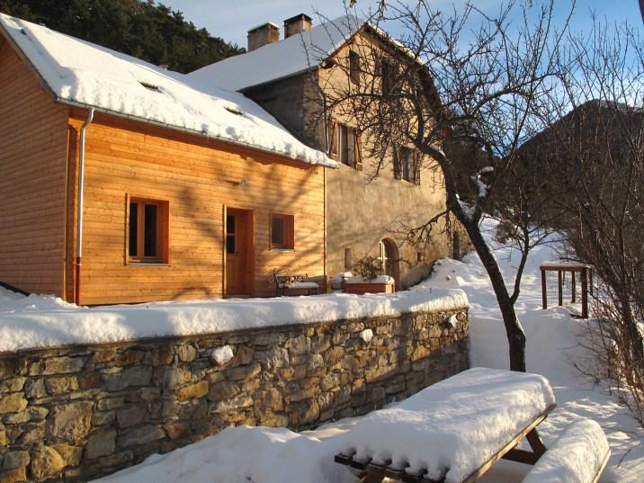 L'écogîte de Mélanie et Laurent en hiver...