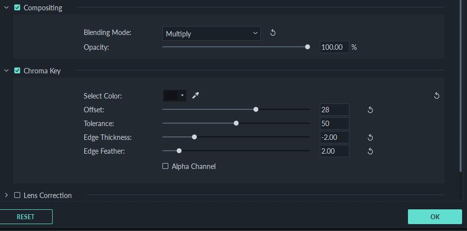 Setting Chroma Key