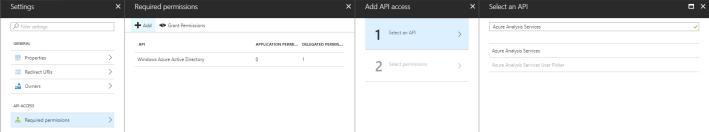 Select an API - Azure Analysis Services