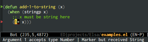 {focus_keyword} emacs-elsa/Elsa type inference 1