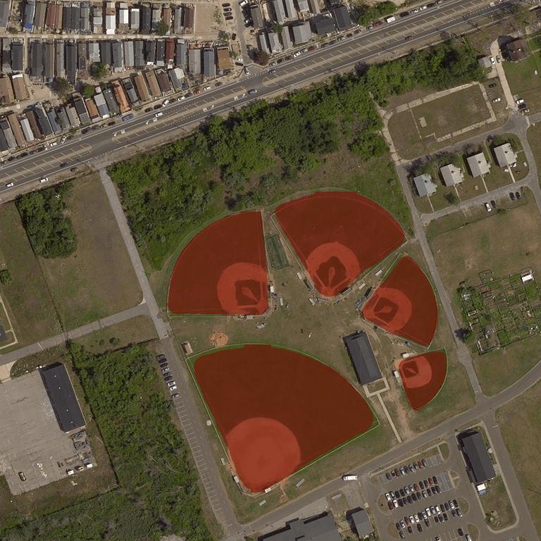 Identify sport fields in satellite images