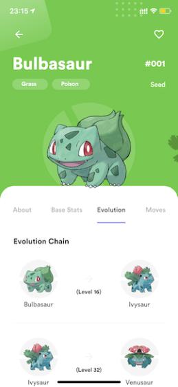Pokemon Info - Evolution