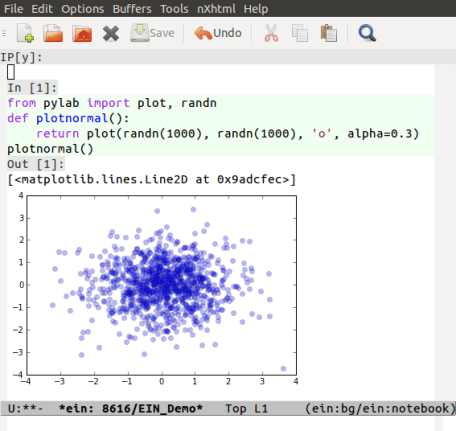 IPython Notebook in Emacs