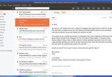 Mailspring теперь доступен как часть пакета Snap