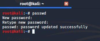 Установить новый пароль для root