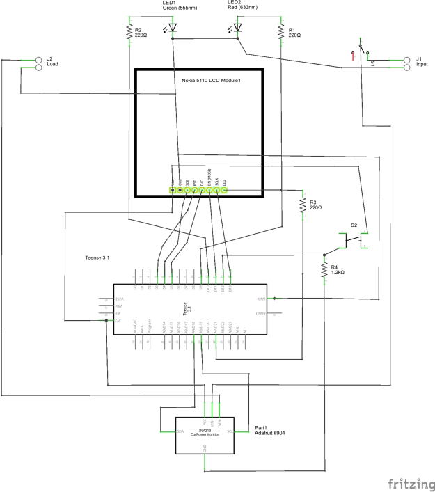 Schematic of the INA219 Meter Circuit