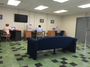 The NGO Lounge at GITMO where NGO's have a place to work (without Wi Fi though)