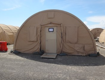 One of the many tents of Camp Justice. This particular tents is one of two Male NGO tents. Shower and bathroom facilities are housed in different tents.