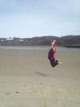 Me Jumping at the Beach