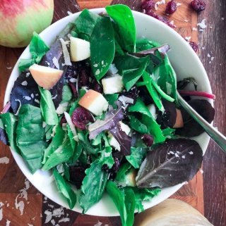 Apple Cranberry Salad in a serving bowl