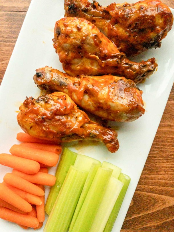 Finished recipe for chicken drumsticks