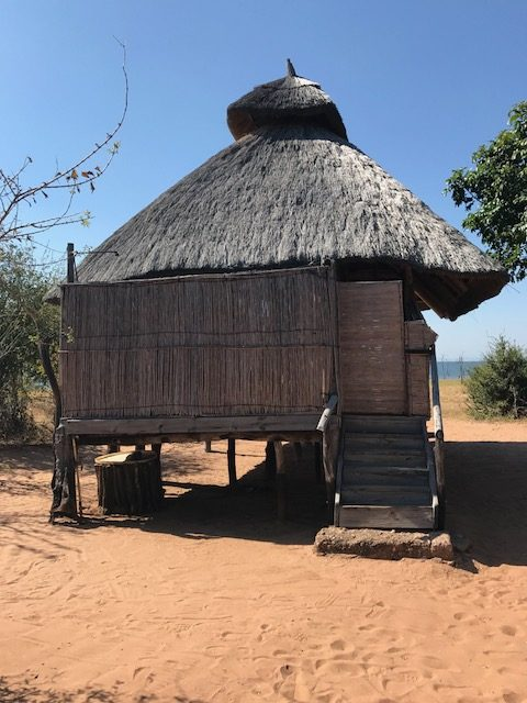 A hut at Rhino Safari Camp, Zimbabwe