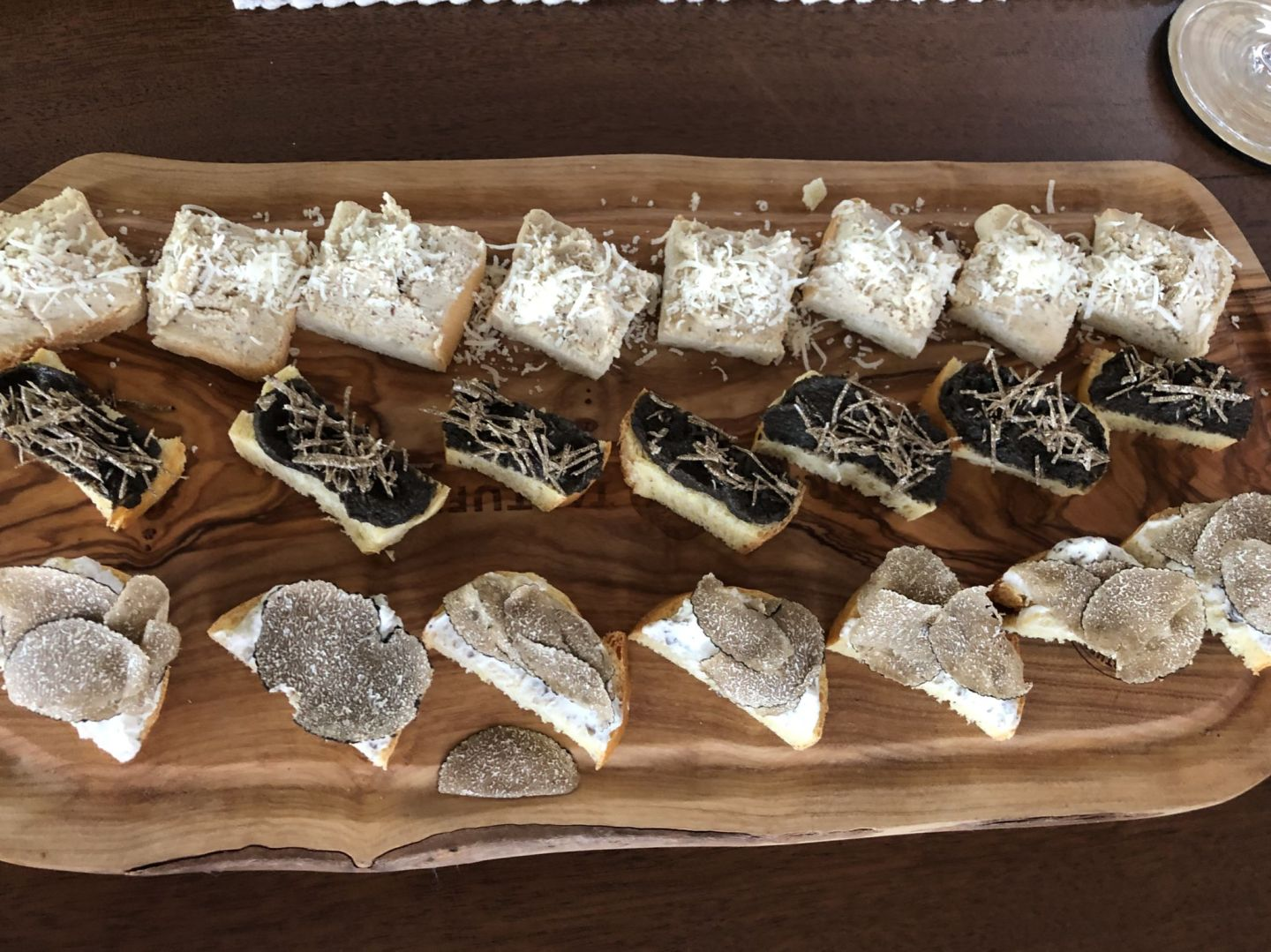 delicious board of truffeles in Istria Croatia
