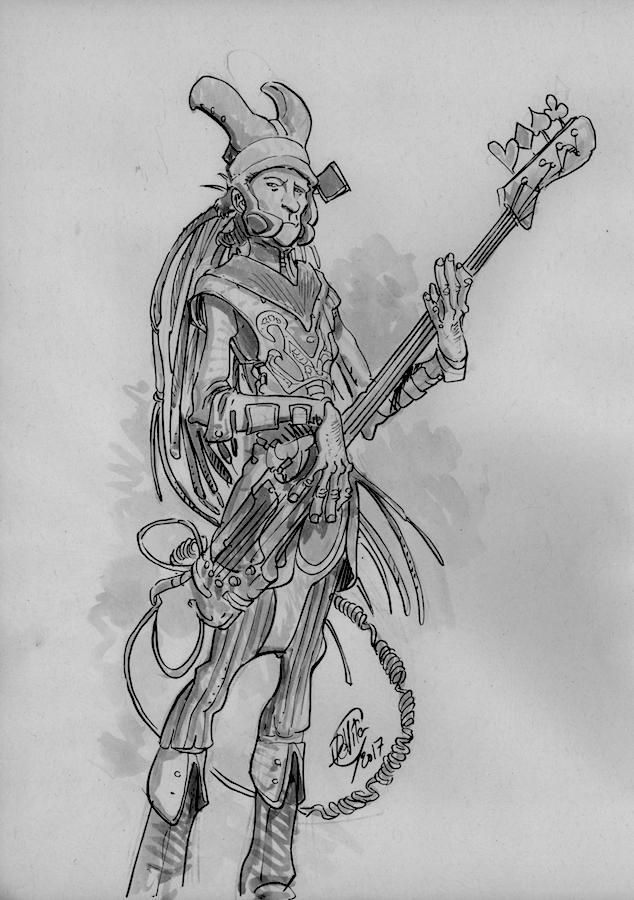 fantasy bass player comic