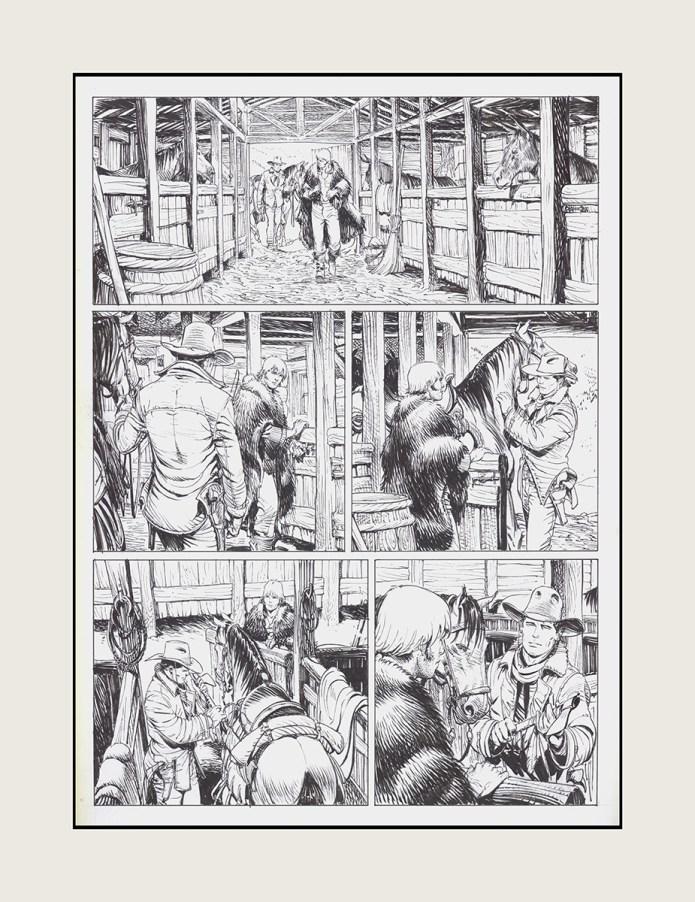 planche 25 de l'album de bande dessinée Tex Sfida nel Montana