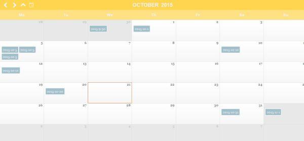 React Cal: a hierarchical calendar – mgiulio