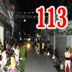 Gây rối trật tự gọi 113