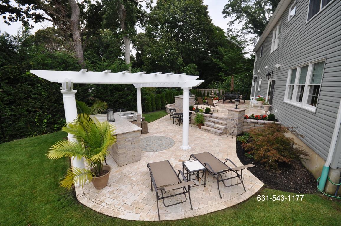 Hot Tubs In Backyard Designs | Joy Studio Design Gallery ... on Travertine Patio Ideas id=74317