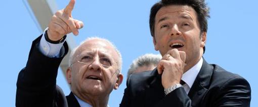 Renzi a porto turistico Salerno con De Luca