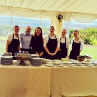 Private Chef and Outside Caterin Giuseppe Manzoli with the team