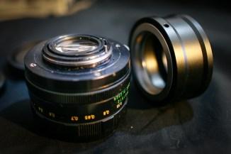Zenit Helios 44M 58/2: lente posteriore