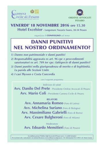 Convegno danno punitivo Pesaro