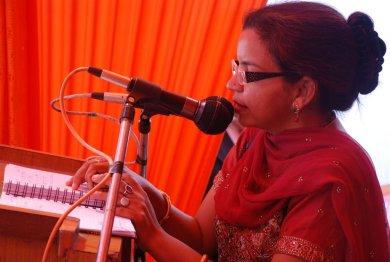 A speaker at a women seminar.