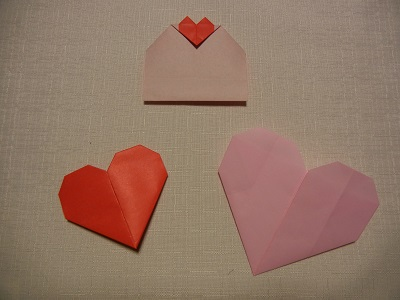 バレンタインの折り紙 ハートのメッセージカードで想いを伝えよう!