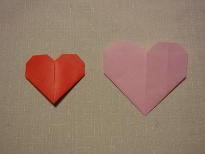 バレンタイン 折り紙 ハート